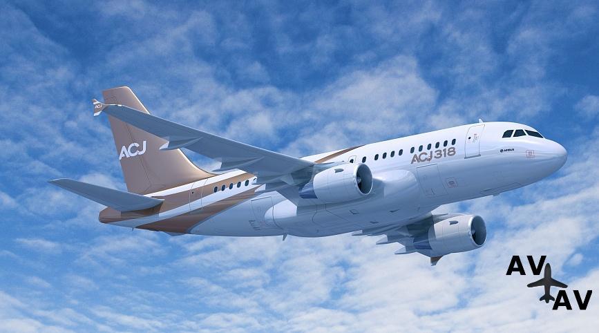 Арендовать частный самолет Airbus ACJ318 в Германии